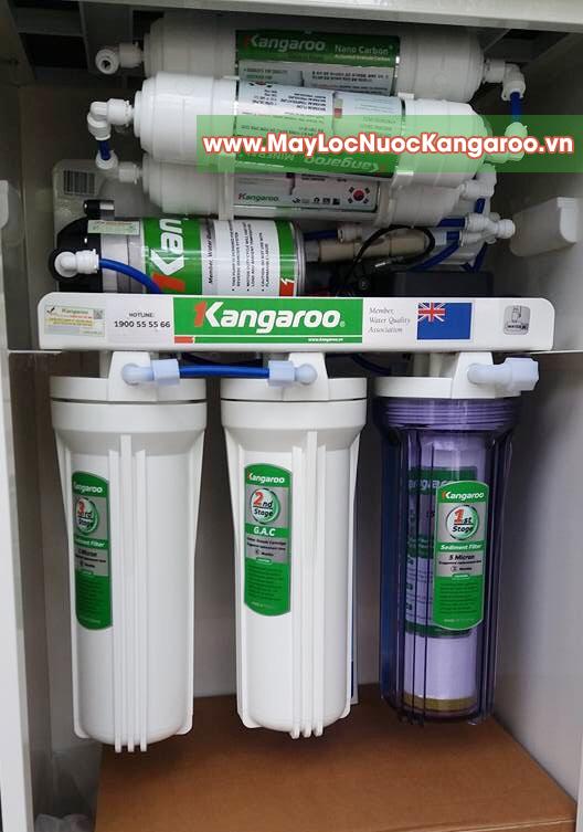 Hình ảnh chụp thực tế máy lọc nước Kangaroo KG100HQ