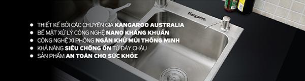 chậu rửa inox Kangaroo kháng khuẩn mới